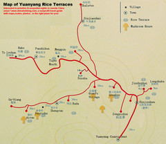 Yuanyang Rice Terraces Map
