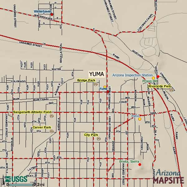 Yuma Arizona Tourist Map Yuma AZ mappery – Tourist Map Of Arizona