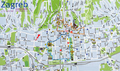 Zagreb Croatia Tourist Map