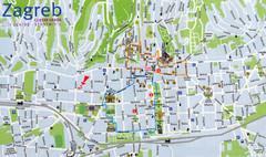 Zagreb Tram Maps Map Zagreb Croatia Mappery