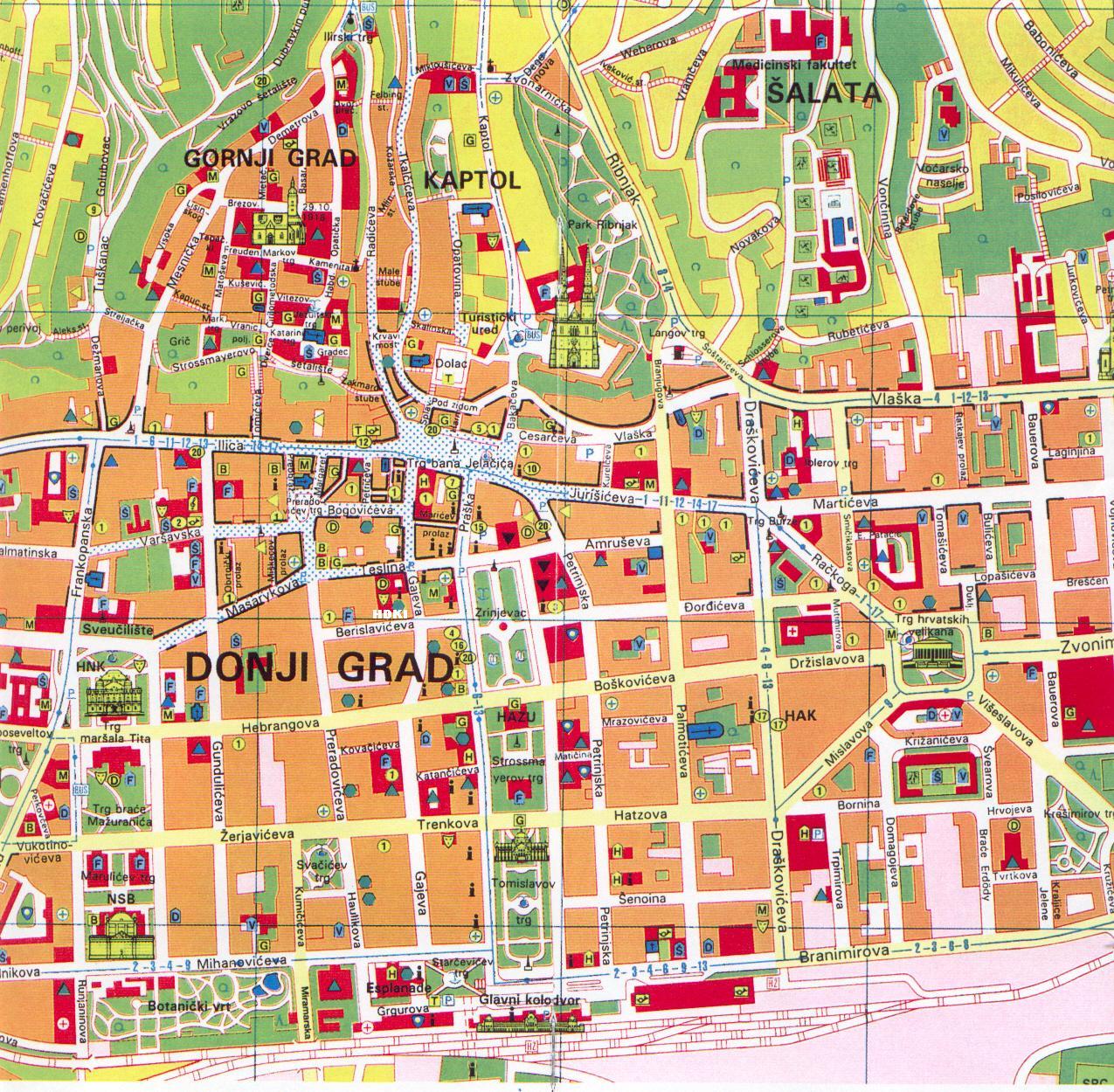 Zagreb Tourist Map - Zagreb Croatia • mappery Zagreb Map