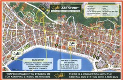 Zakynthos City Tourist Map