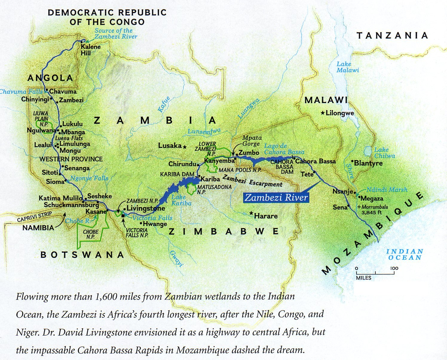 Zambezi River Map
