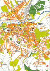Zeitz City Map