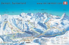 Zermatt Switzerland ski map