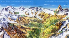 Zermatt Switzerland summer map