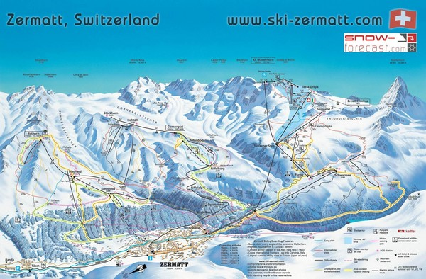 SaasFee Map SaasFee Switzerland mappery
