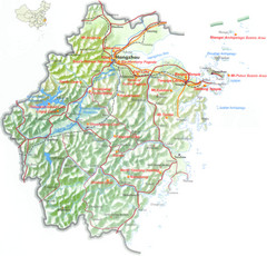 Zhejiang Tourist Map