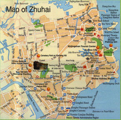 Zhuhai Tourist Map