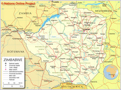 Zimbabwe Tourist Map