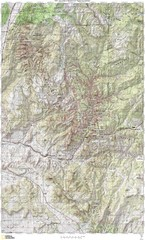 Zion National Park Topography Map