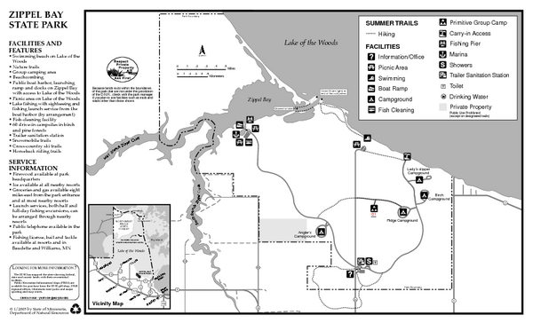 Zippel Bay State Park Summer Map