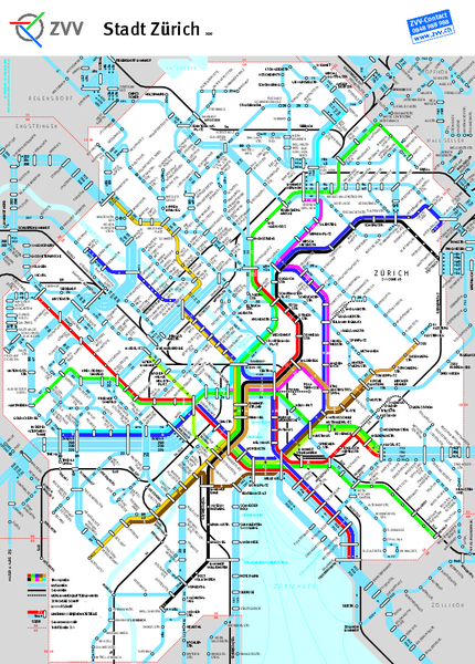 Zurich Subway Map