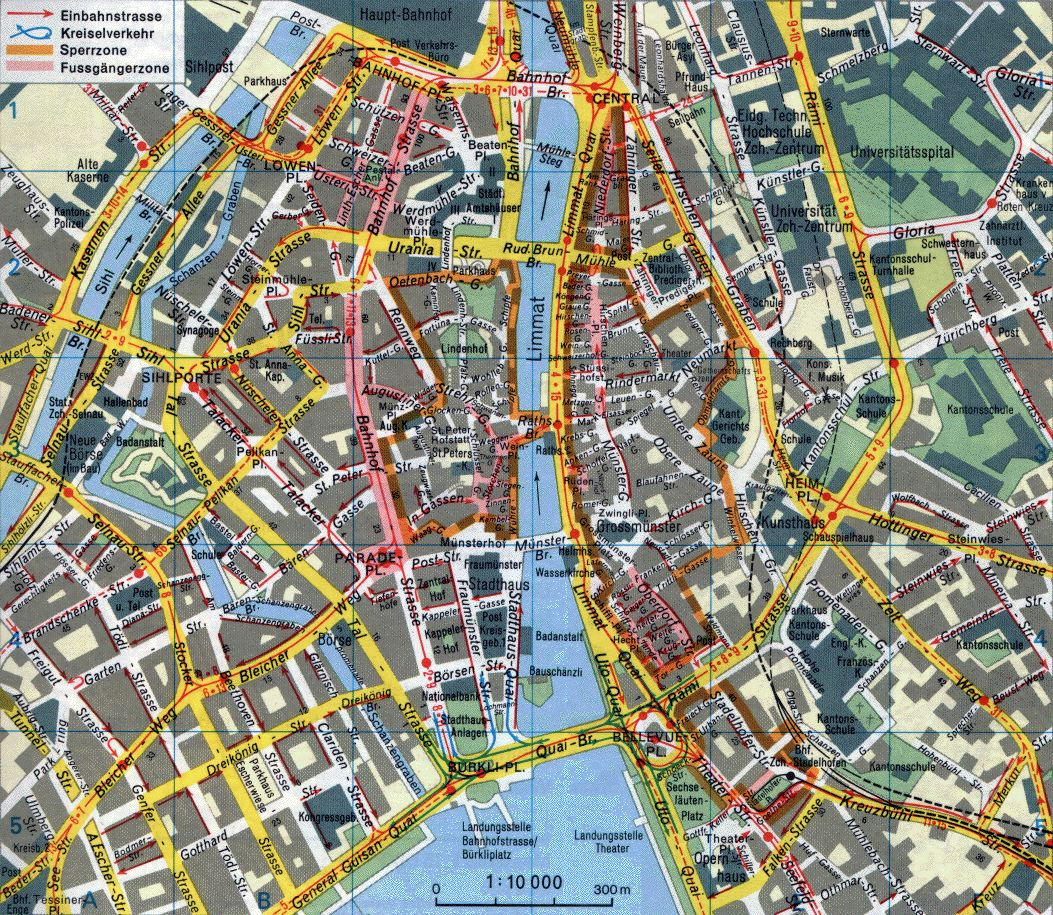 Zurich Switzerland Tourist Map Zurich mappery – Tourist Map of Switzerland