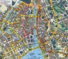 Zurich, Switzerland Tourist Map