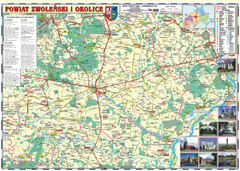 Zwolen_county_folded_map_POLAND Map