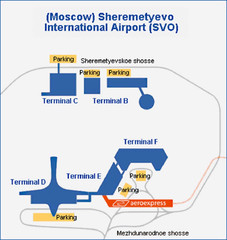 aeroport Sheremetevo Map
