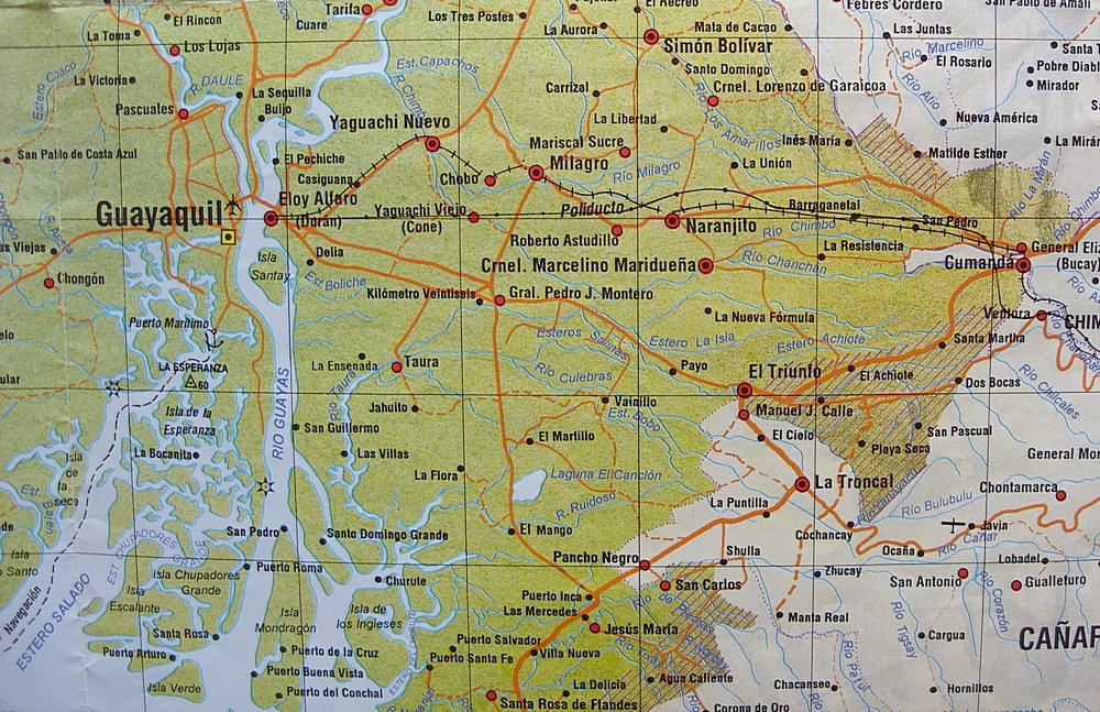 cerca de Guayaquil Map guayaquil ecuador mappery