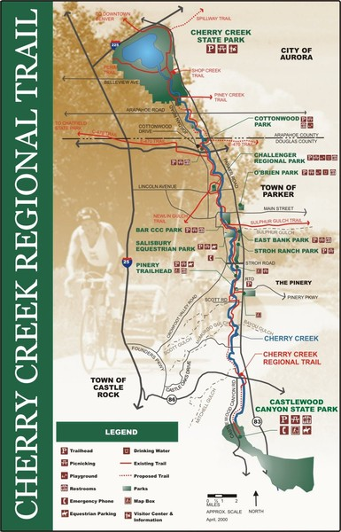 cherry creek regional trail Map