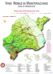 montepulciano road map of production area
