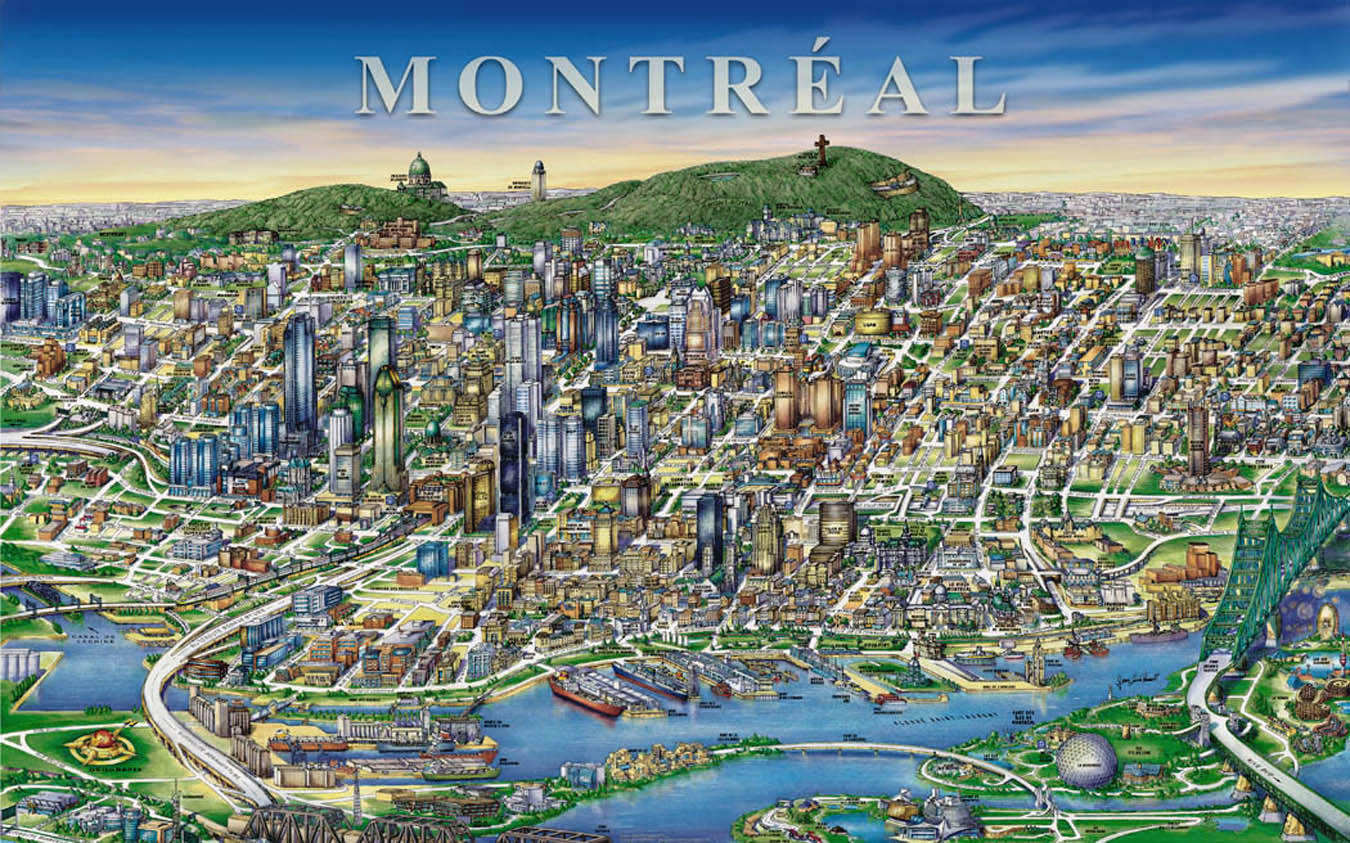 montreal Downtown Map montreal mappery