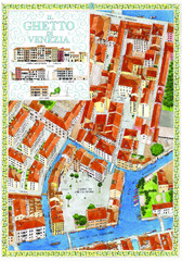 the old jewish ghetto of venezia Map