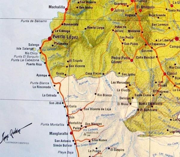 Turismo Ecuador Ruta Del Sol Ruta Del Sol Map