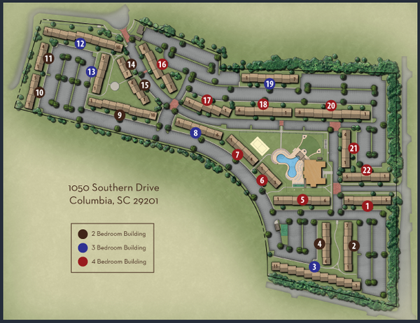 woodlands of Columbia map