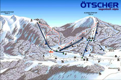Ötscher Lackenhof Ski Trail Map